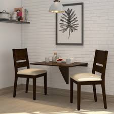 dining table with 2 chairs. ivy - cabalo (fabric) 2 seater wall mounted dining table set (beige, with chairs a