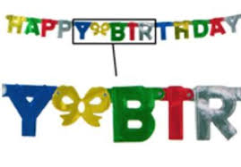 Bulk Birthday Banners Party Supplies Foil Happy Birthday Streamer