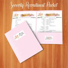 Social Resume And Sorority Recruitment Packet 2 Resume Template