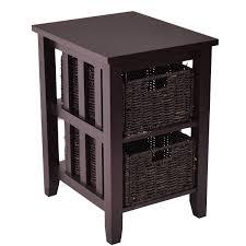 ikea leksvik tv coffee table with wicker baskets in