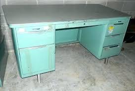vintage metal office desk. Office Desk Vintage Metal Furniture Sea Green Blue . A