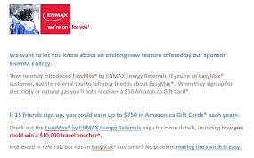 we want to let you know about an exciting new feature offered by our sponsor enmax energy