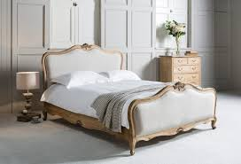 The French Bedroom Company Weathered Mahogany Upholstered Bed