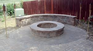 concrete patio with fire pit. Masonry Fire Pits And Benches Patio Concrete With Pit