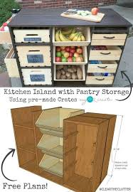 Diy Kitchen Cabinet Plans Adorable Rolling Kitchen Island And Pantry Storage FUTURE HOME
