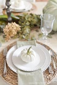white table settings. White Pumpkin Table Setting Settings