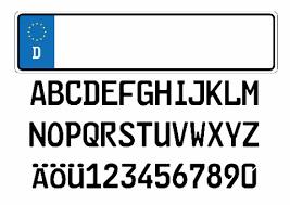 Templates Alphabet Letters European License Plate Template With Alphabet Letters Free