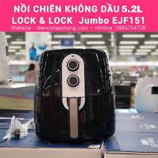 Nồi chiên không dầu cơ Lock&lock Jumbo EJF151BLK 5.2L - Điện Máy Đăng Khoa  Hải Phòng - Đồ gia dụng chính hãng giá cực rẻ