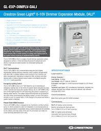 Crestron Lighting Control Panel Spec Sheet Manualzz Com