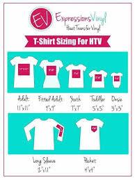 T Shirt Decal Sizes For Htv Cricut Cricut Vinyl Cricut
