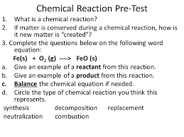 6 chemical reaction