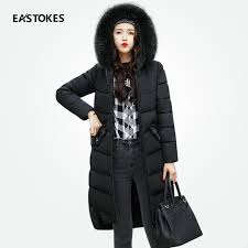Women Winter Long Coats With Large Fur Collar Slim Fits Zippered ... & Women Winter Long Coats With Large Fur Collar Slim Fits Zippered Jackets Ladies  Quilted Coats Ladies Adamdwight.com