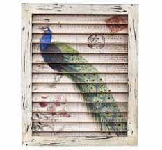 living room nearly natural peacock window shutter wall decor 7022 the home depot carved