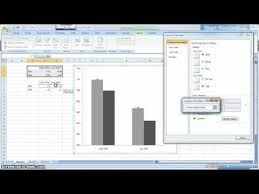 Apa Style Graph In Excel 2007 Youtube