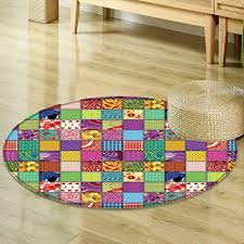 Modern Offices Design Impressive Amazon Round Area Rug Carpet Modern Decor Patchwork Like