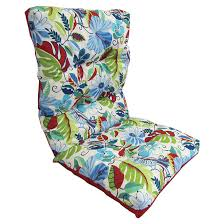 high back patio chair cushion reversible blue red