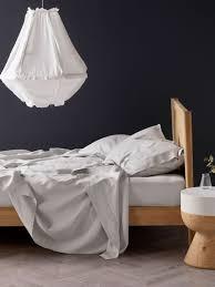 nimes grey linen sheet set