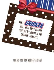 7 Candy Bar Thank You Notes For Volunteers – Children's Ministry Deals