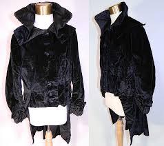 edwardian black velvet womens winter equestrian tailored tail coat riding jacket this antique edwardian era black
