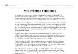 the strange neighbour gcse english marked by teachers com document image preview