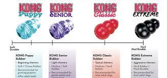 Kong Dog Toy Sizing Chart