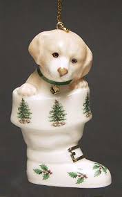 Spode Spode Christmas Tree Miscellaneous Ornaments Puppy In Boot - Boxed