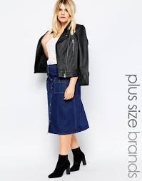 boohoo plus on through denim skirt with pocket detail blue women plus size boohoo shirt dress white incredible s