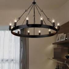 Industrial Wrought Iron Candle Chandelier 12 Lights Fixture Ceiling Pendant  Lamp