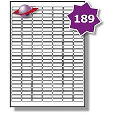 189 Per Page Sheet 5 Sheets 945 Sticky Small Micro Labels Label Planet White Blank Matt Self Adhesive Plain A4 Stickers Printable With