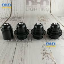 description black e27 fitting lamp holder