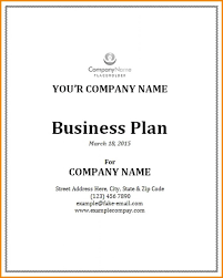 Business Plan Cover Template Business Cover Sheet Template