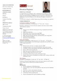 Electrical Engineer Resume Sample Resume format for Electrical Engineer New Electrical Engineer Resume 4
