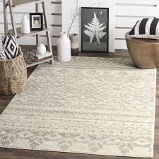 11 x 15 area rug safavieh adirondack southwestern ivory silver area rug 11