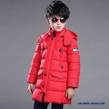 new thick cotton jacket big kids boys warm coat medium long style coats factory