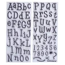 Papermania Leftovers <b>Alphabet Stamps</b>, Pack of 2, <b>Clear</b>: Amazon ...