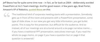 Memorandums And Letters Powerpoint How Jeff Bezos Turned Narrative Into Amazons Competitive