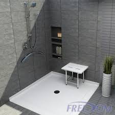 barrier free shower pan for corner