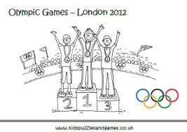 London Olympic Games Coloring Sheet Kids Puzzles And Games