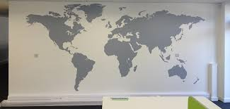 office world map. Huge Vinyl Sticker World Map Decal For Offices And Business Spaces Create An Epic Looking Office Environment O