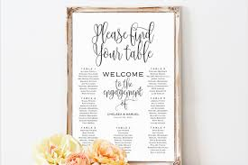 Seating Chart Wedding Wedding Seating Chart Sign