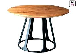 metal dining table bases for wood tops and kitchen appealing base metal dining table base white