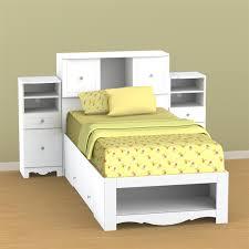 Nexera Pixel Twin Low Bookcase Storage Bed N SET1