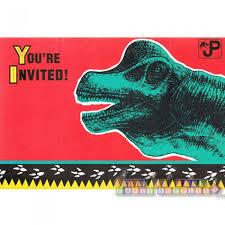 Jurassic Park Invitations Jurassic Park Vintage 1992 Invitations W Envelopes 8ct