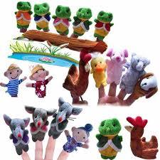 <b>5 Pcs</b> Frog Hen Mouse <b>Animals Finger Puppets</b> Story Telling ...
