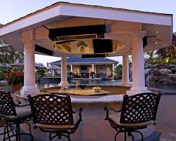 Backyard Designs With Pool And Outdoor Kitchen Home Decor Gallery - Outdoor kitchen designs with pool