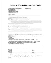 real estate purchase offer letter purchaser cover letter