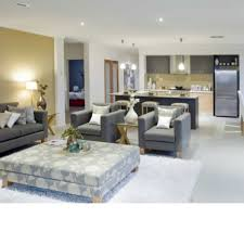 open plan lounge and kitchen lounge room living room