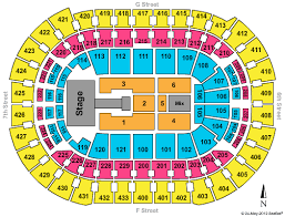 Wizards Seating Chart With Rows Cheap Verizon Center Dc Tickets