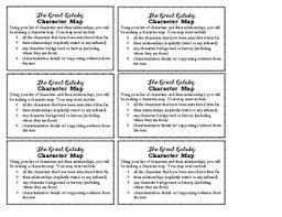 The Great Gatsby Character Chart Worksheet The Great Gatsby Character Map Worksheets Teaching