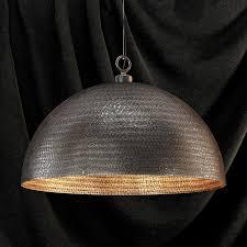 rodan hammered metal dome pendant light